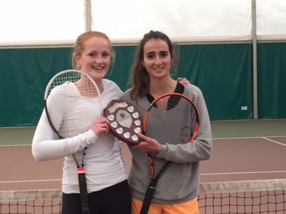 Girls doubles winners (HIghbury College)
