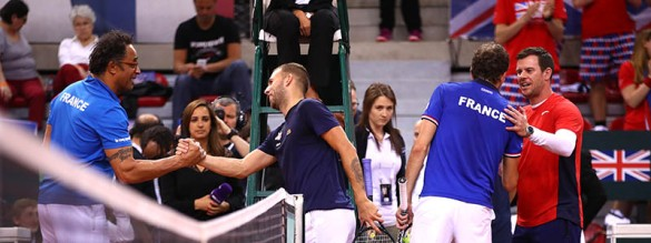 France v Great Britain - Davis Cup World Group Quarter-Final: Day Three