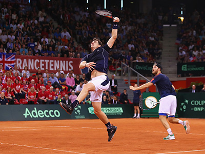 France v Great Britain - Davis Cup World Group Quarter-Final: Day Two